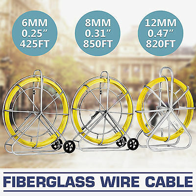 6/8/12mm Fiberglass Wire Cable  Holder Fish Tape Rod Duct Rodder HOT GREAT