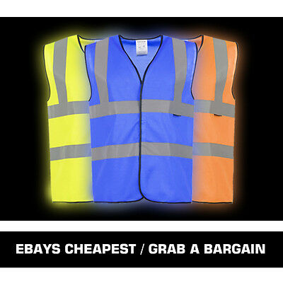 Hi Vis Vests - Yellow / Orange / Blue / Green