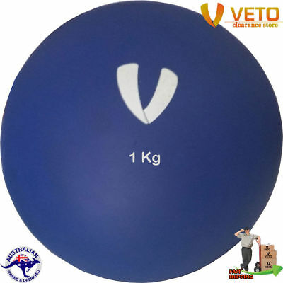 VETO 1Kg Indoor Shot Put Non Bouncy Competition Throw Training Athletics Sports