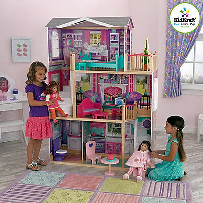 Kidkraft Majestic Mansion Dollhouse Wood Doll House With Furniture