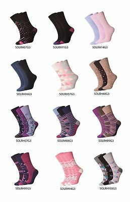 LADIES GENTLE GRIP EVERYDAY COTTON SOCKS, NEW DESIGNS LOT, 3/6or12 PAIRS,UK 4-8