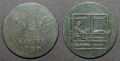 1797 B&B Yeovil Half Penny Token Weaving Loom