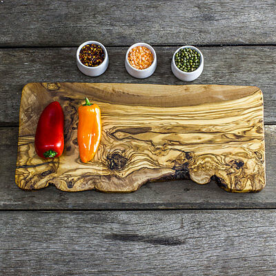 Rustic Olive Wood Serving/Presentation Board - Length 40cm (F2NDSCPN40)