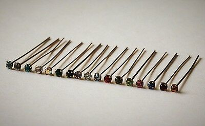 Swarovski 40mm Gold Plated  Crystal Head Pins with 1028 Chatons PP24 Many Colors