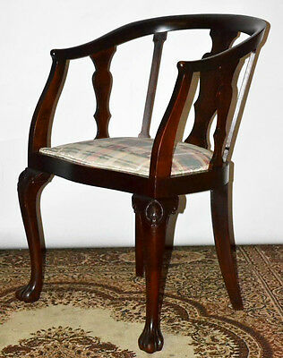 Antique Mahogany Tub Chair - FREE Shipping [PL3108]