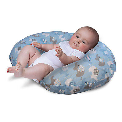 NURSING PILLOW SLIPCOVER Baby Infant Support Boppy Slip cover Elephant Blue