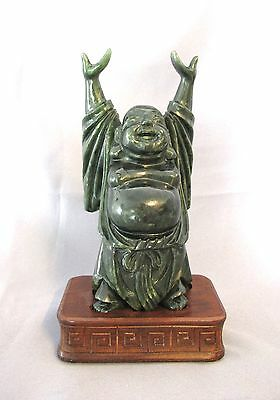 Antique Chinese Jade or Jadeite Buddha Statue figure (#824)