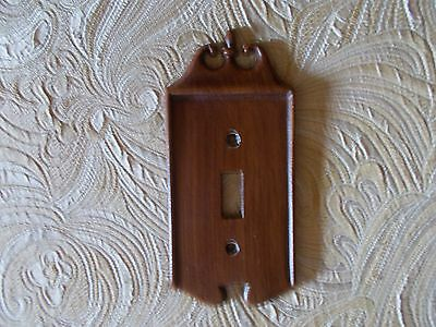 Vintage Metal Wood Look Single Decorative 70's Light Switch Plate 504 EMIG