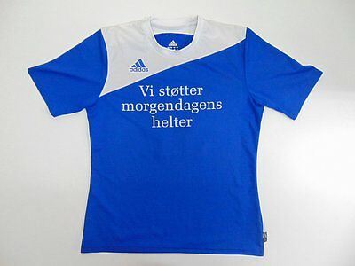 2007 2008 Adidas blue Norway Norge training shirt jersey soccer retro old S 17