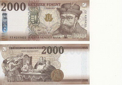 Ungarn / Hungary - 2000 Forint 2016 UNC - Pick New