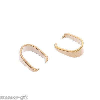 10X Stainless Steel Pinch Bail Clip Gold Plated Jewelry DIY Jewelry Findings