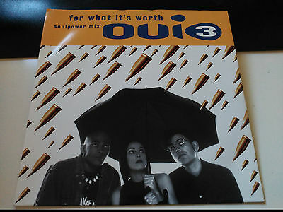Single Oui 3 - For What It's Worth - Mca Uk 1993 Vg+