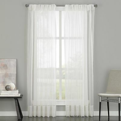 """Curtainworks Soho Voile Curtain Panel - Sheer/Oyster - 29""""X108"""" - (1)"""