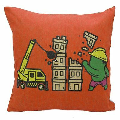 Home Elements Demolition Superheroes Part Time Job Cushion Cover 45cm