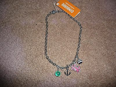 NWT Gymboree Girls Shore to Love beach/crab/bead chain necklace BEAUTIFUL new
