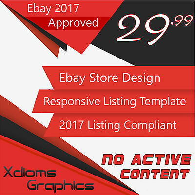 Custom eBay Store Shop Responsive Listing Template Design Package 2017 Compliant