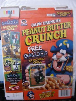 Quaker Capn Crunch Peanut Butter Cereal Box 2001 Lego Galidor card !