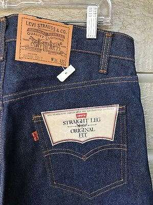 Vintage Levis NOS Original Fit Straight Leg Jeans 32x34 Made in USA Orange Tab