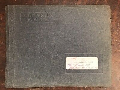 Bucyrus Erie Excavating Machinery Parts Book w/ Diagrams 1961 Service Employee