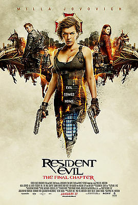 RARE Movie Poster Original RESIDENT EVIL THE FINAL CHAPTER 27x40 SS