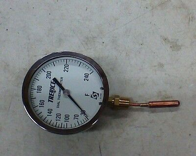 """NEW Trerice 4 1/2"""" dial vapor actuated thermometer 30-240 F"""