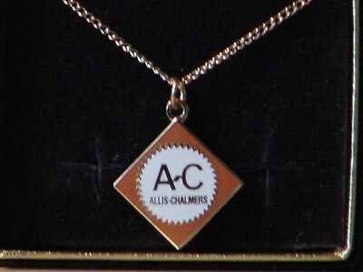 Allis Chalmers Orange Colored Logo Necklace