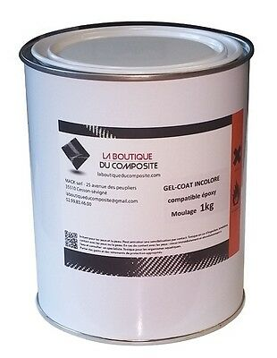 1kg. de GEL COAT POLYESTER INCOLORE de moulage COMPATIBLE EPOXY