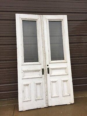 An 49 Match Pair Beveled Glass Double Door Entrance Set 52.25 X 89 X 1.75
