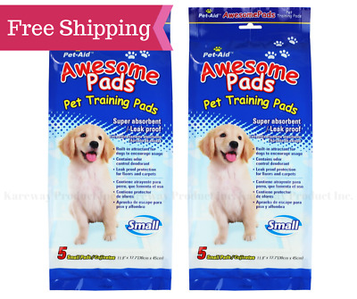 Pet-Aid Awesome Dog Puppy Potty Training Pet Pads Small, 5ct