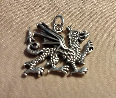 Sterling Silver Welsh Dragon Pendant with jump ring