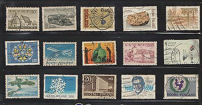 (U14-8) 1940-2003 Finland mix of 63stamps values to 1K (A)