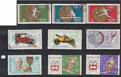 (U19-28) 1960-80 Hungary mix of 36stamps value to 4ft (G)