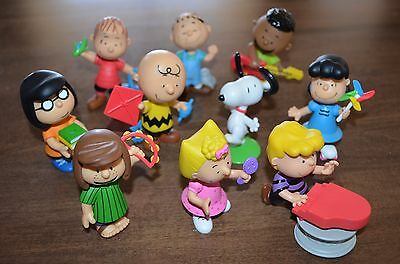 Set of 10 Peanuts Charlie Brown & Friends PVC Figure Collector's Cake Decorate