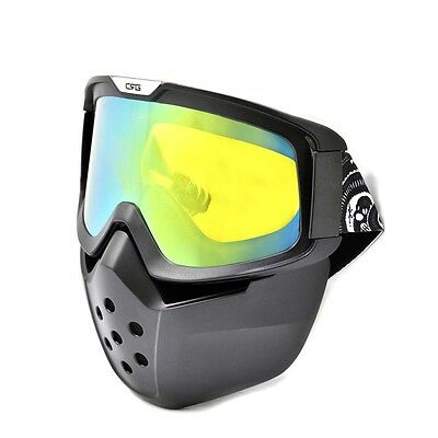 Adults Detachable Wind DustSurfing Jet Ski Snow Snowboard GOGGLES Mask Shield