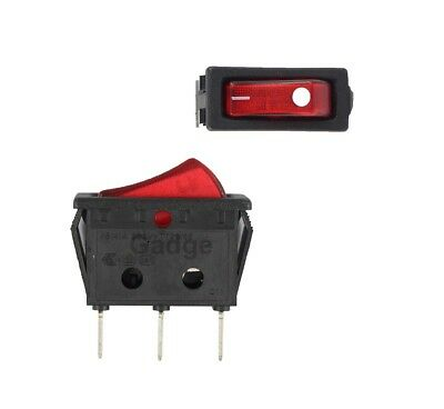 Canal RH Series Illuminated Red Rocker Switch Red 20 A 16 A