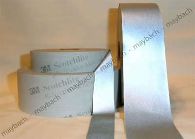 "4"" 3M SILVER REFLECTIVE TAPE 8910 FABRIC motorcycle 4 INCH"
