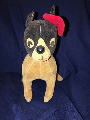 Rare Vintage(early 1900s) French Bulldog With Beret Hat Dog Possibly Steiff