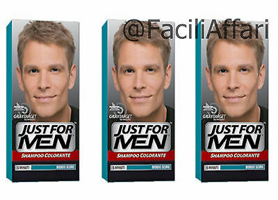 3x SHAMPOOING COLORANT HOMME JUST FOR MEN Blonde foncé coloration masculin
