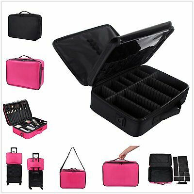 New Portable Travel Beauty Cosmetic Makeup Vanity Case Nail Artist Box Carry Bag