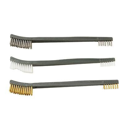 3pcs Handy Brush Stainless Steel Nylon Brass Wire Brushes Cleaning 17cm Long
