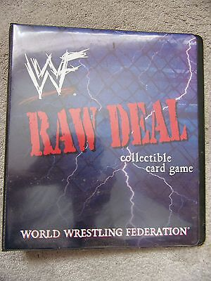 WWF WWE RAW DEAL FOLDER / BINDER for Collectible Card Game