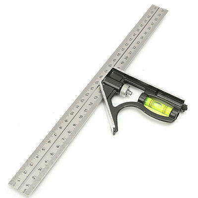 300mm Adjustable Engineers Combination Try Square Set Right Angle Ruler Guide