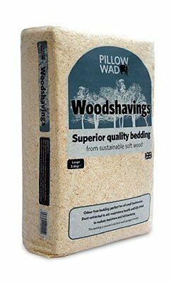 Dust Extracted Wood Shavings -Approx 3.6KG- Rabbits, Horses / Great Kitty Litter
