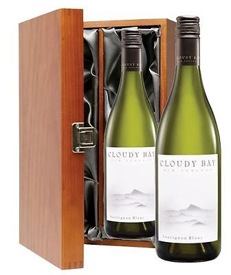 Duo of Cloudy Bay Sauvignon Blanc 2 x 75cl in Wooden Gift Box