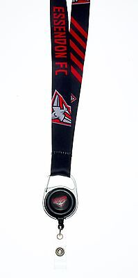 Essendon Bombers AFL Lanyard Detachable Keyring Retractable ID Holder