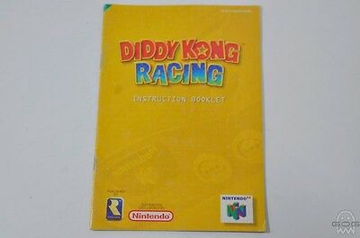 OFFICIAL REPLACEMENT MANUAL - DIDDY KONG RACING - N64 - Nintendo..
