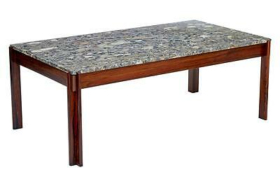 DANISH 1970's ROSEWOOD MARBLE TOP COFFEE TABLE