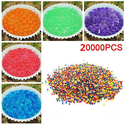 20000Pcs Water Ball Crystal Pearls Jelly Gel Beads for Orbeez Toy Refill Decor