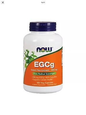 EGCg Green Tea Extract 400 mg 180 Veg Capsules - NOW Foods FAST SHIPPING