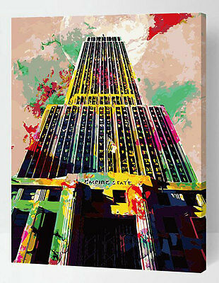 Painting by Number kit The Empire State Building America New York DIY ML7305
